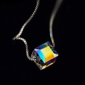 Stunning Multi-Colored Cube Necklace